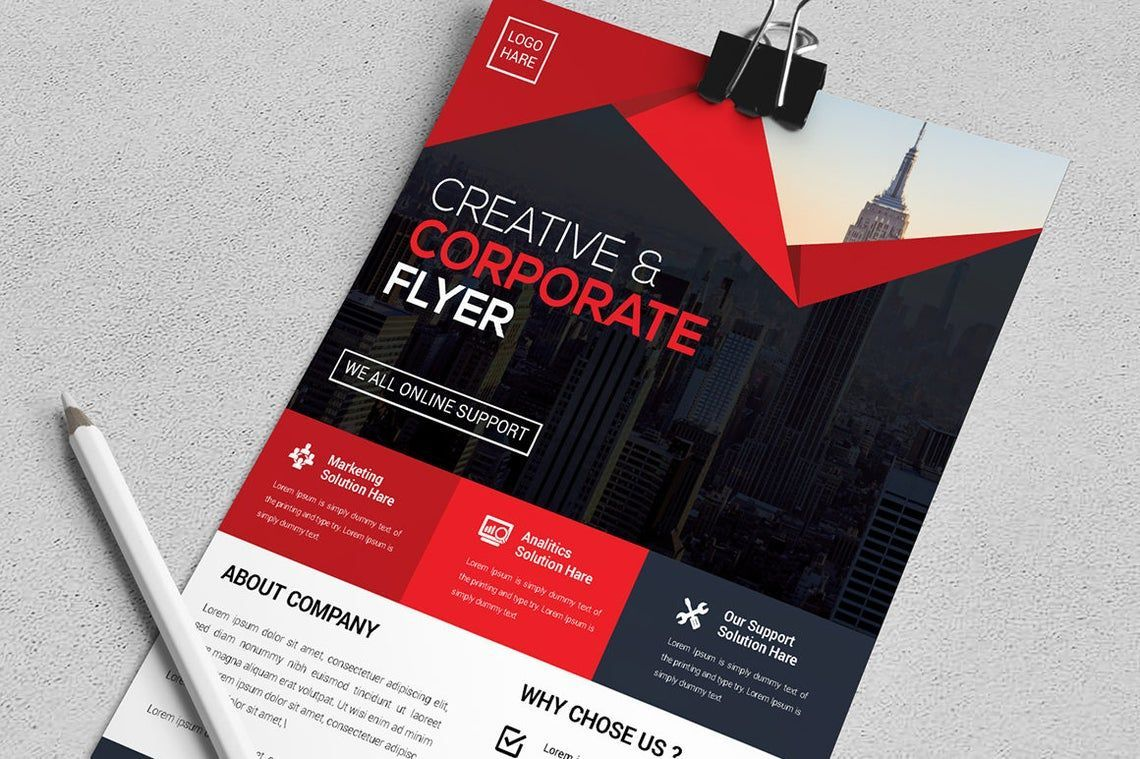Corporate Business Creative Flyer Vol 09, Slide 3, 08821, Business — PoweredTemplate.com