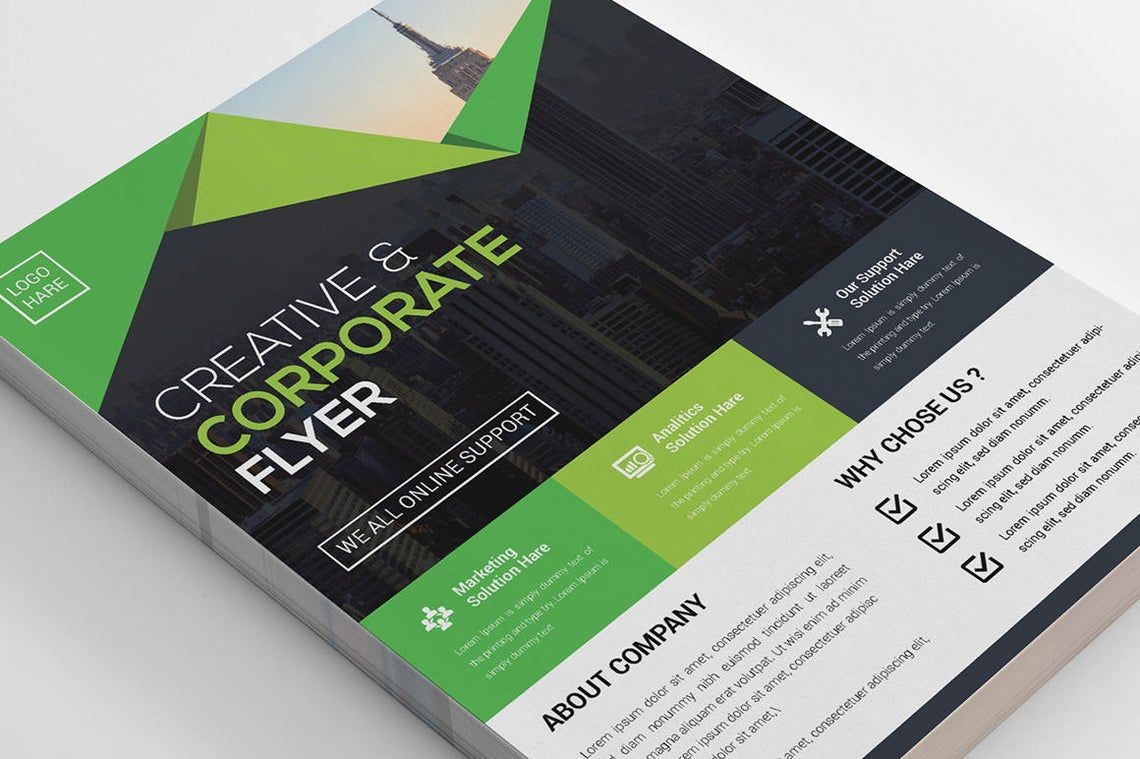 Corporate Business Creative Flyer Vol 09, Slide 4, 08821, Business — PoweredTemplate.com