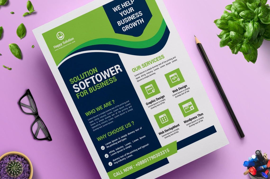 Corporate Business Flyer Design Template Vol 11, Slide 3, 08823, Business — PoweredTemplate.com
