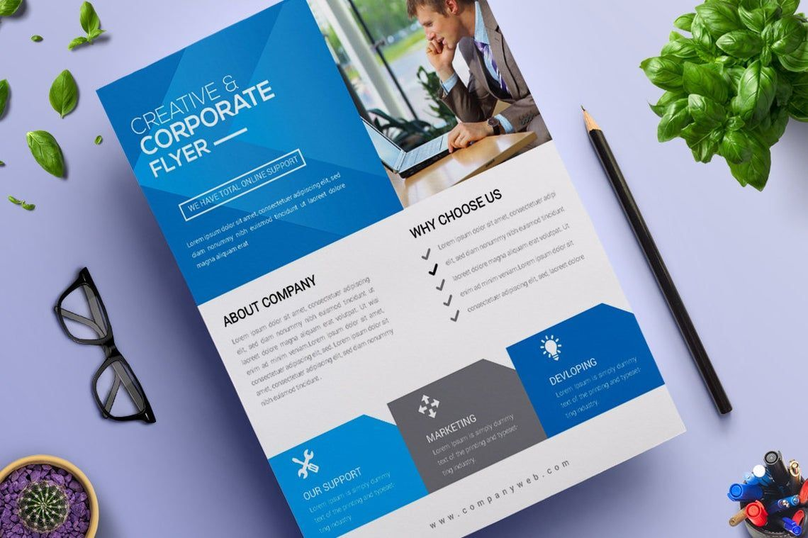 Corporate Business Flyer Vol 12, 08824, Business — PoweredTemplate.com