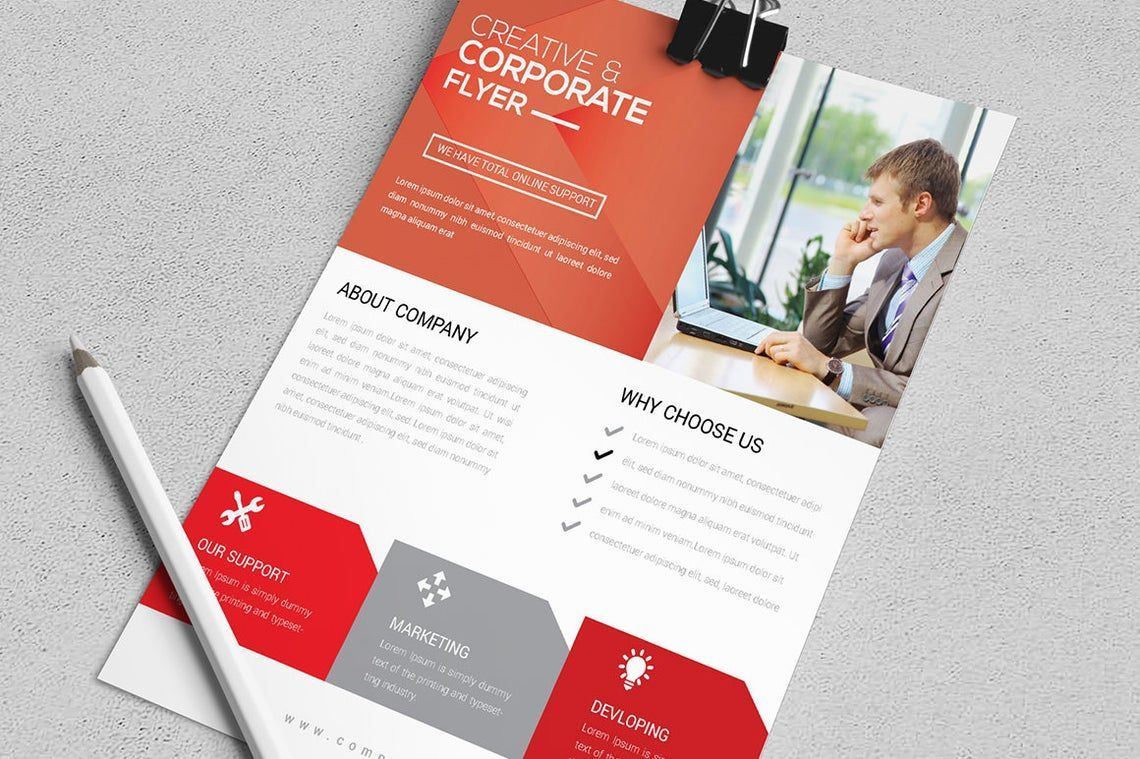 Corporate Business Flyer Vol 12, Slide 3, 08824, Business — PoweredTemplate.com