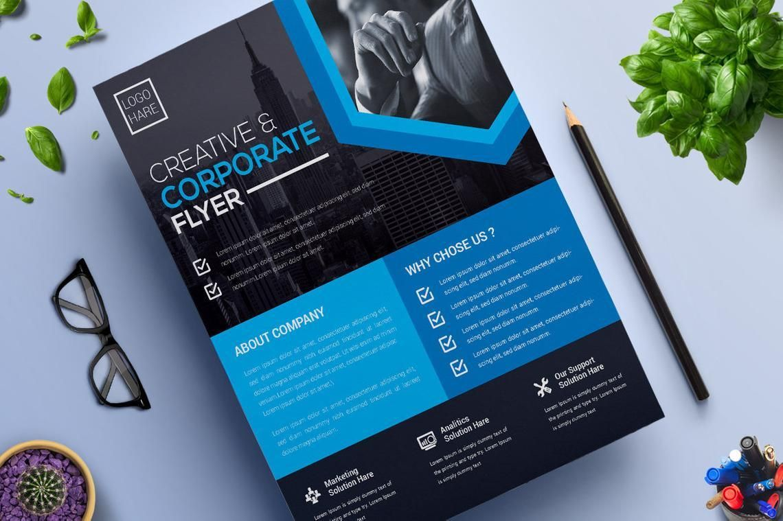 Corporate Business Flyer Vol 13, Slide 2, 08825, Business — PoweredTemplate.com