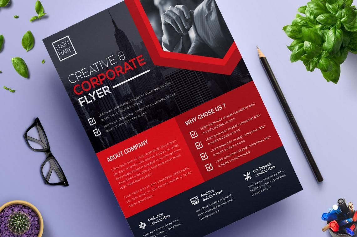 Corporate Business Flyer Vol 13, Diapositive 5, 08825, Business — PoweredTemplate.com