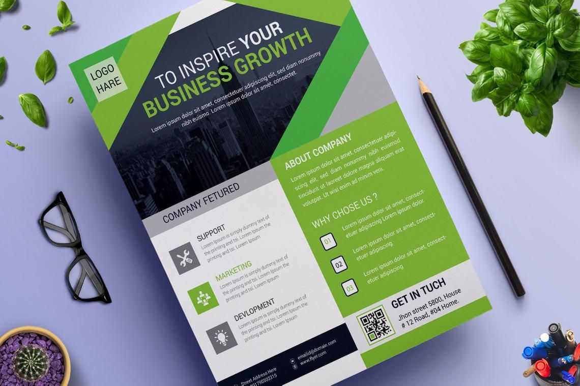 Corporate Business Flyer Vol 14, 08826, Business — PoweredTemplate.com
