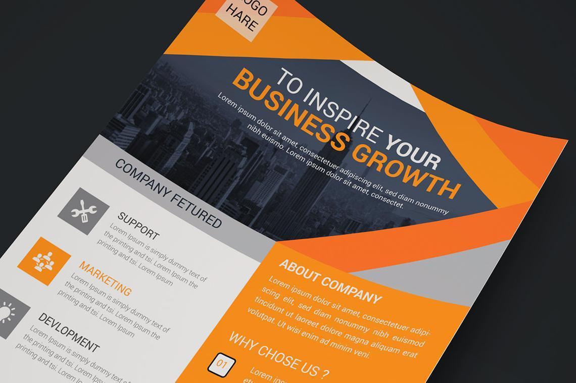 Corporate Business Flyer Vol 14, Slide 3, 08826, Business — PoweredTemplate.com
