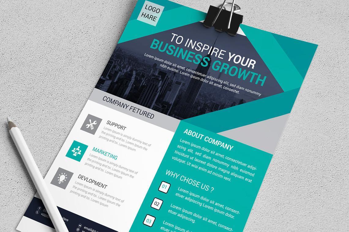 Corporate Business Flyer Vol 14, Slide 4, 08826, Business — PoweredTemplate.com