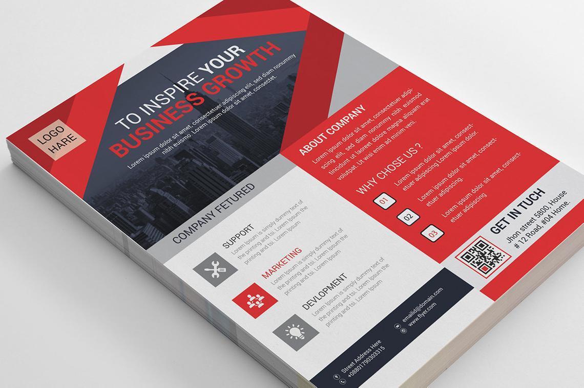 Corporate Business Flyer Vol 14, Slide 5, 08826, Business — PoweredTemplate.com