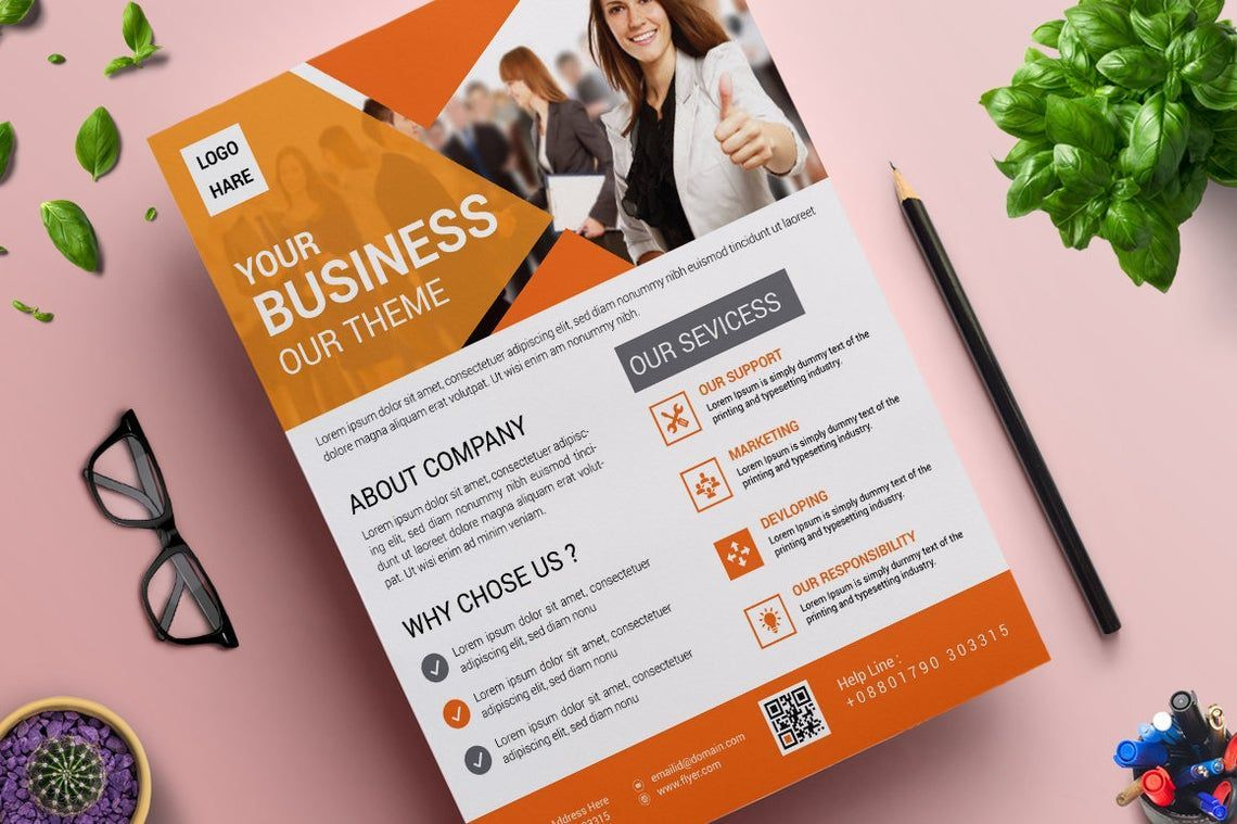 Corporate Business Flyer Vol 15, 08827, Business — PoweredTemplate.com