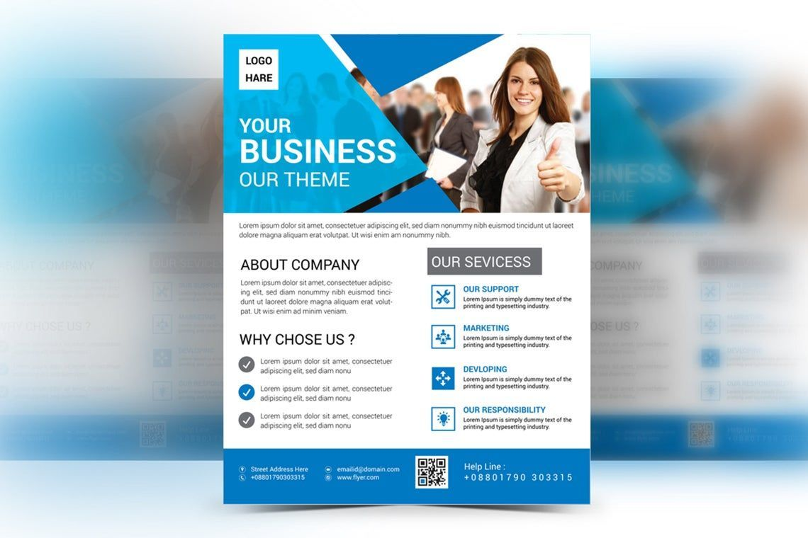 Corporate Business Flyer Vol 15, Slide 2, 08827, Business — PoweredTemplate.com