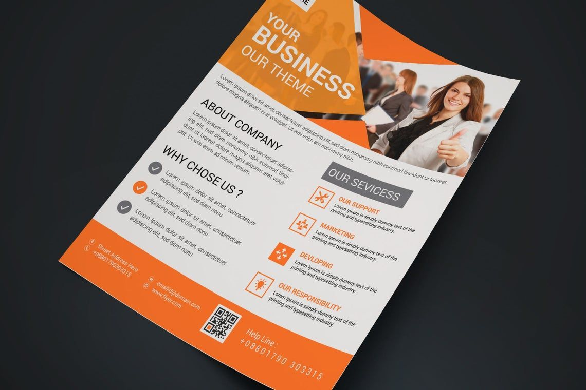 Corporate Business Flyer Vol 15, Slide 3, 08827, Business — PoweredTemplate.com