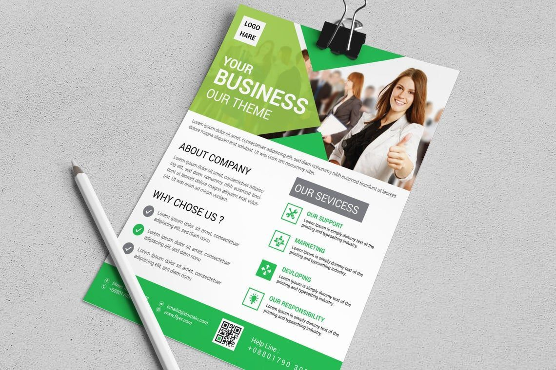 Corporate Business Flyer Vol 15, Slide 4, 08827, Business — PoweredTemplate.com