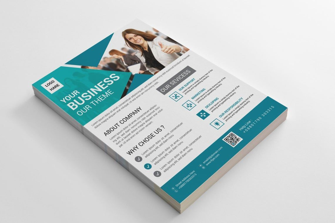 Corporate Business Flyer Vol 15, Slide 5, 08827, Business — PoweredTemplate.com