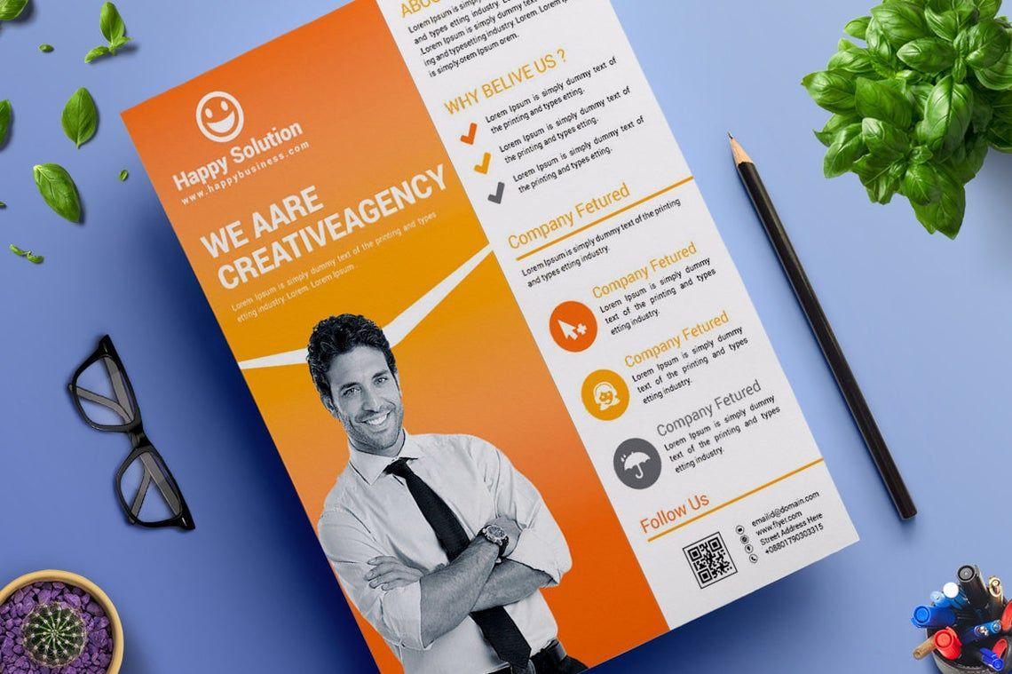 Corporate Business Flyer Vol 17, Slide 3, 08828, Business — PoweredTemplate.com