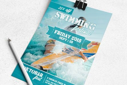 Art & Entertainment: Swimming Festival Flyer Template #08829