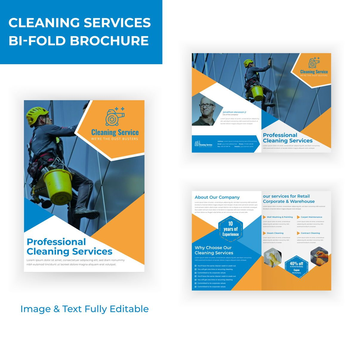 cleaning service Marketing material Design Brochure Template, 08830, Abstract/Textuur — PoweredTemplate.com