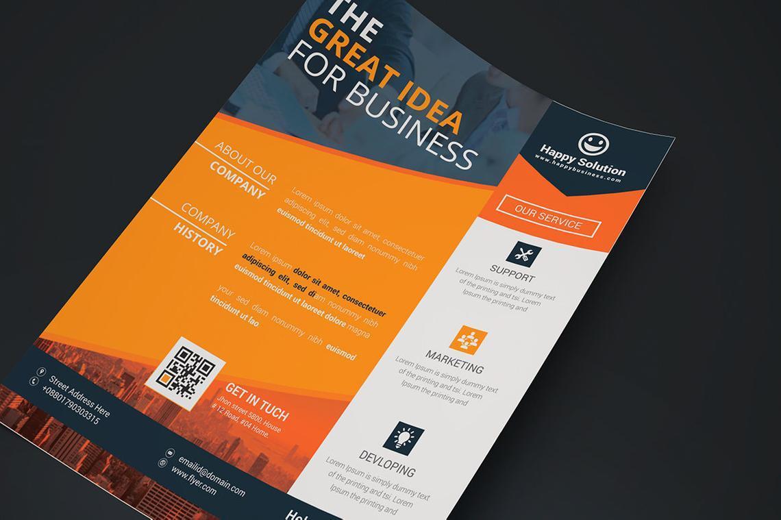 Corporate Business Flyer Vol 16, Slide 2, 08832, Business — PoweredTemplate.com