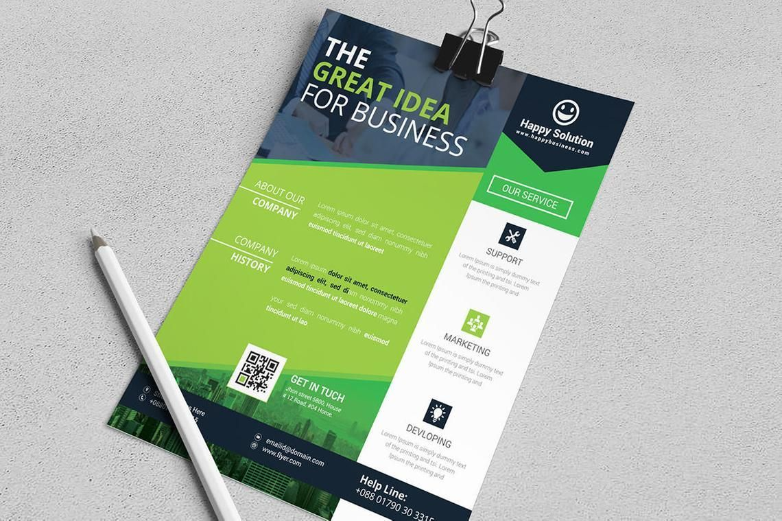 Corporate Business Flyer Vol 16, Slide 3, 08832, Business — PoweredTemplate.com