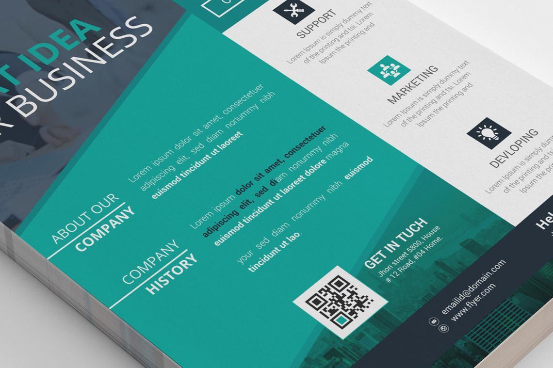 Corporate Business Flyer Vol 16, Slide 4, 08832, Business — PoweredTemplate.com
