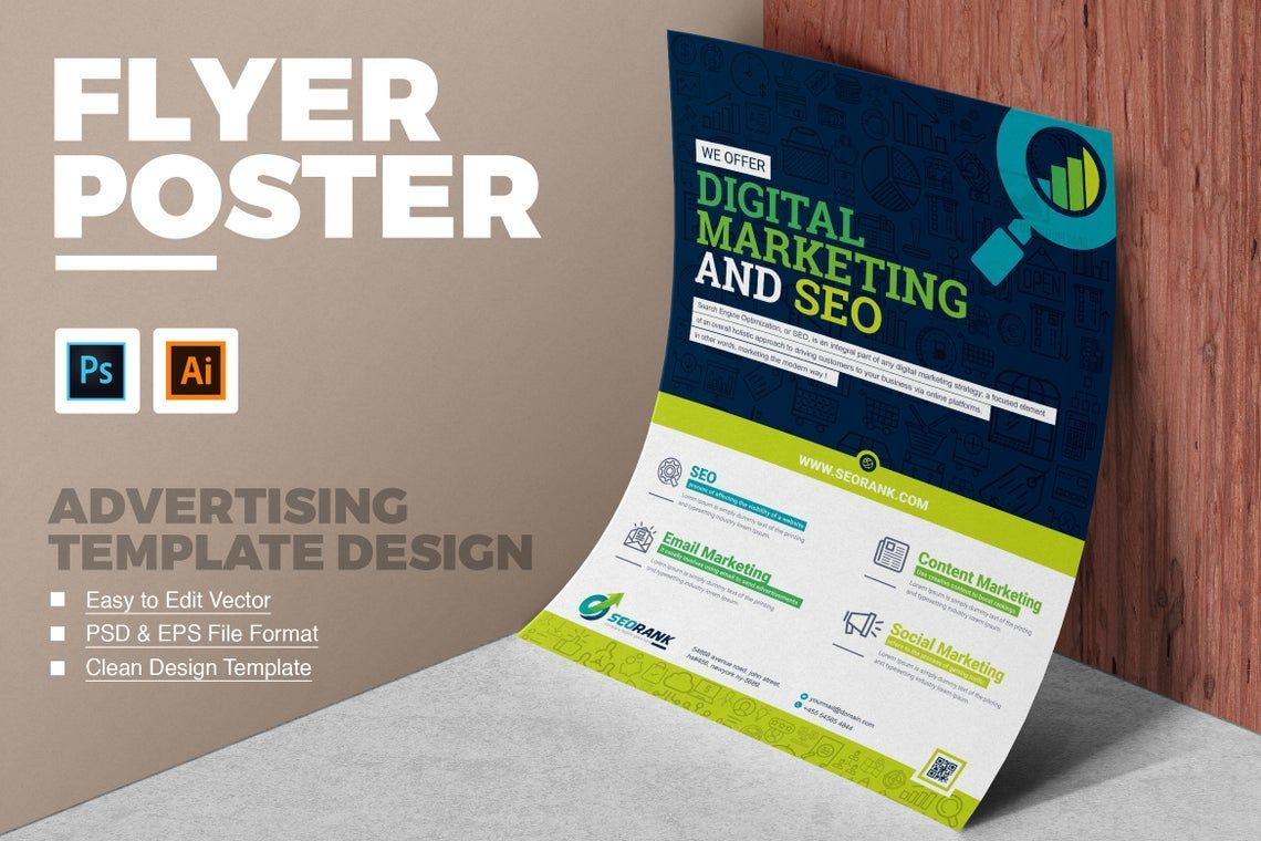SEO and Digital Marketing Agency Flyer, 08833, General — PoweredTemplate.com