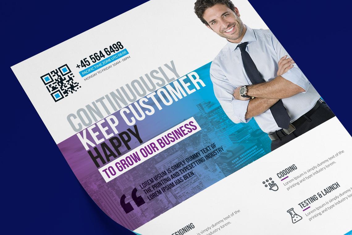 Printable Corporate Business Flyer Template, 08834, Business — PoweredTemplate.com
