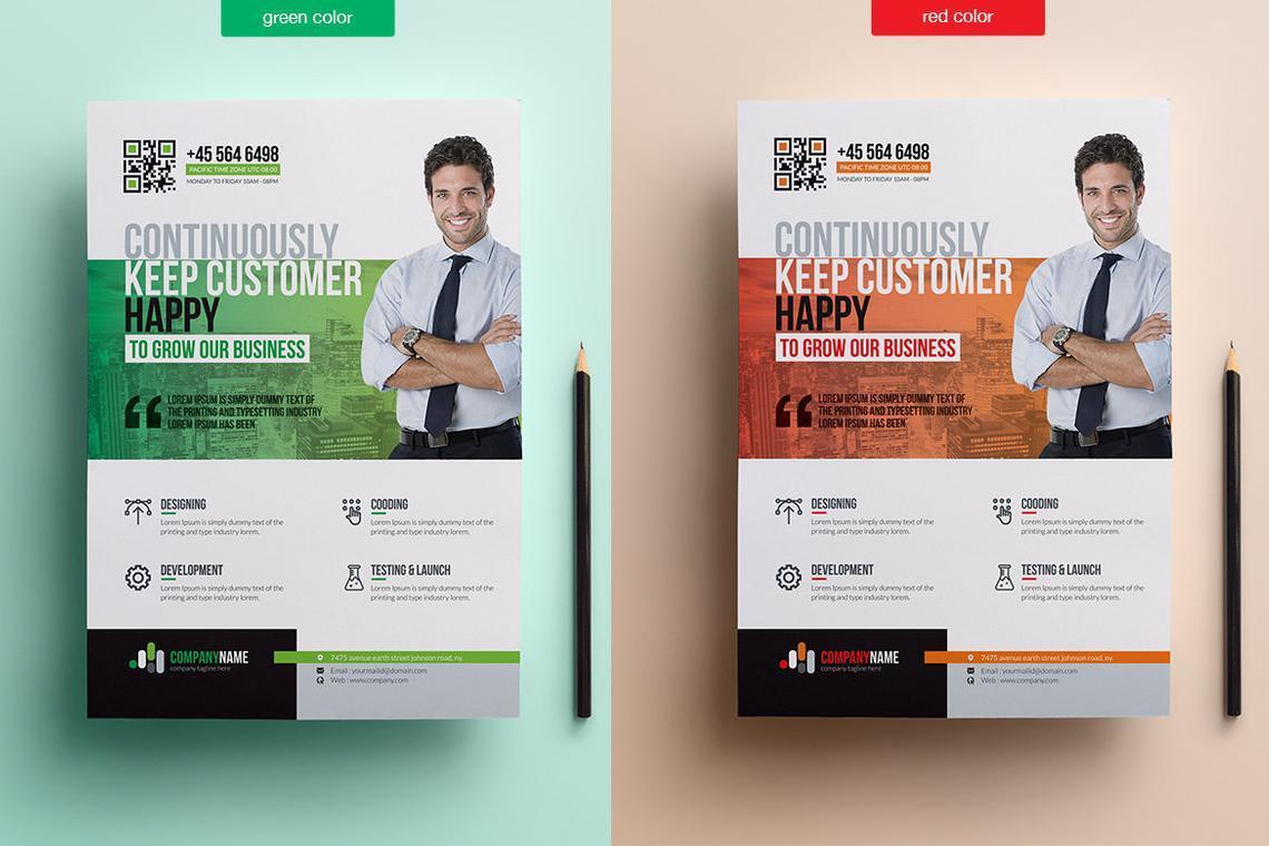 Printable Corporate Business Flyer Template, Slide 2, 08834, Business — PoweredTemplate.com