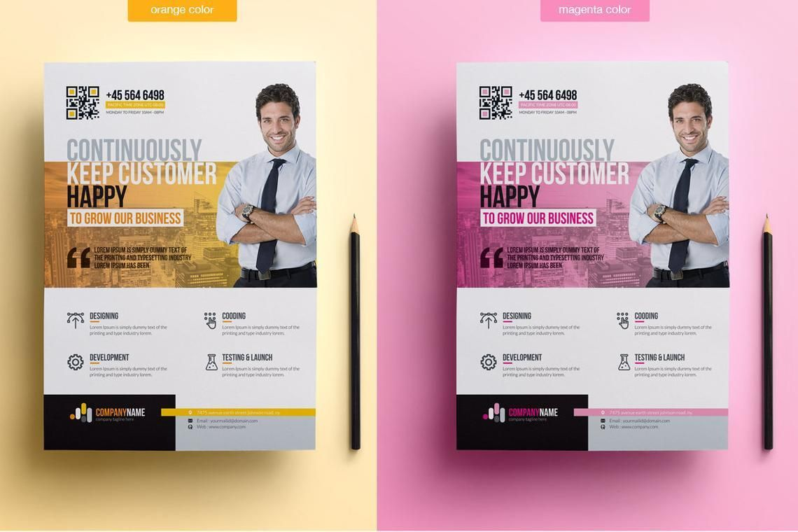Printable Corporate Business Flyer Template, Slide 3, 08834, Business — PoweredTemplate.com