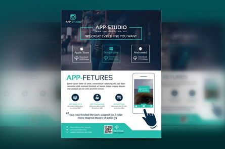 Business: Mobile Application Flyer #08835