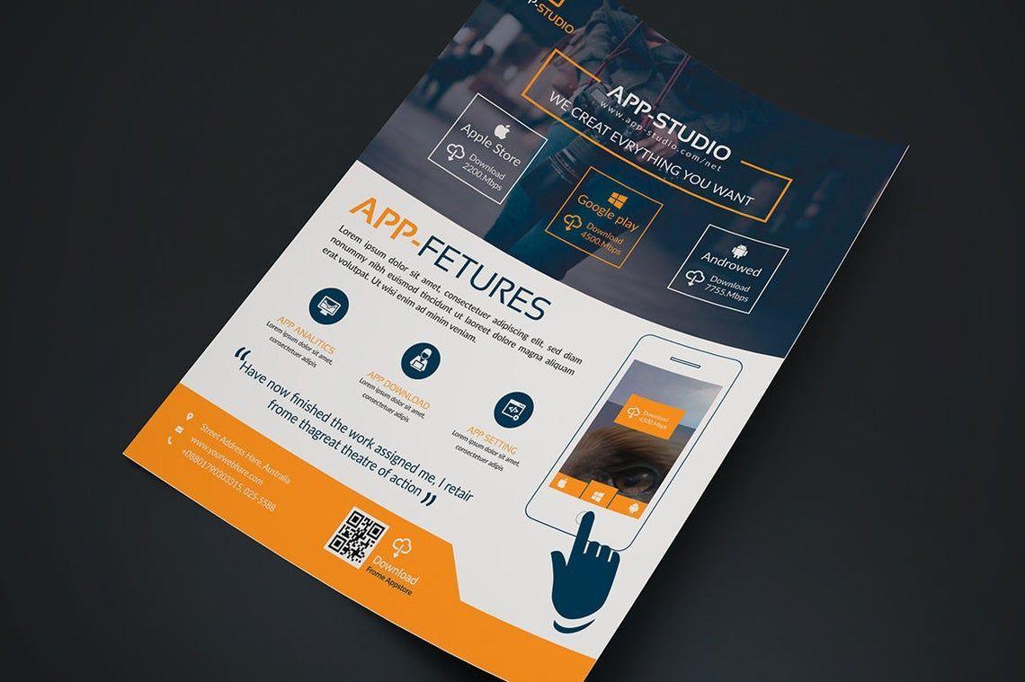 Mobile Application Flyer, Slide 2, 08835, Business — PoweredTemplate.com