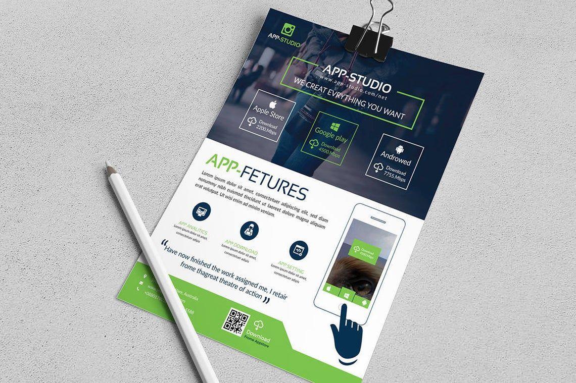 Mobile Application Flyer, Slide 3, 08835, Business — PoweredTemplate.com