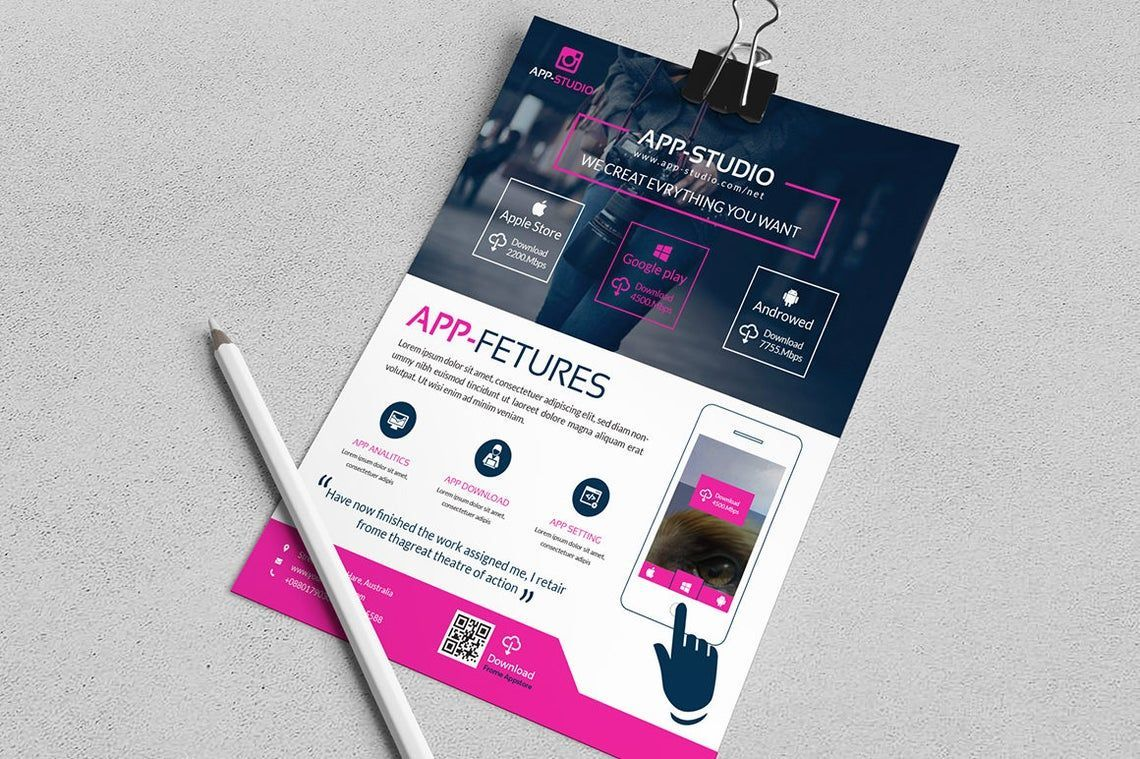 Mobile Application Flyer, Slide 6, 08835, Business — PoweredTemplate.com