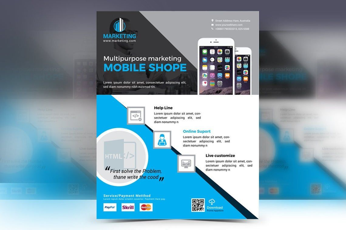 Mobile Application Flyer Vol 02, 08836, Business — PoweredTemplate.com