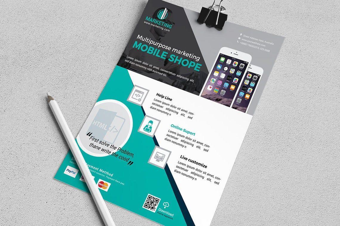 Mobile Application Flyer Vol 02, Slide 3, 08836, Business — PoweredTemplate.com
