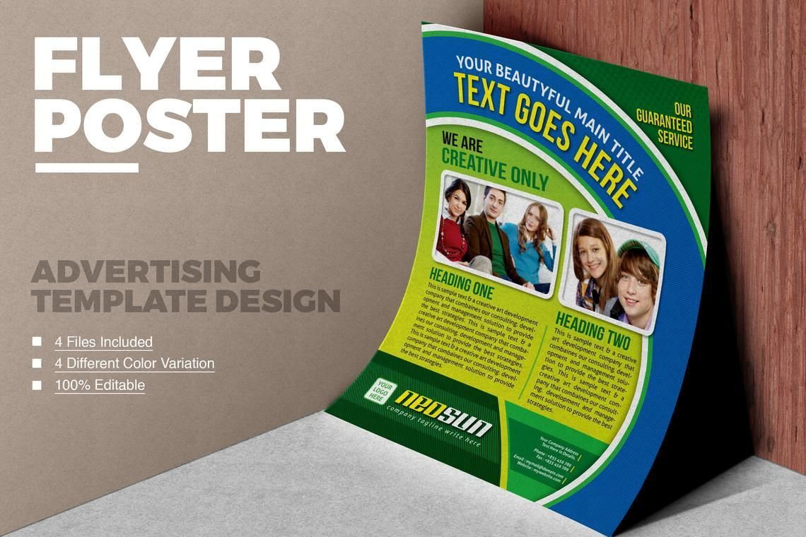 NeoSun - College Flyer Template, 08837, Education & Training — PoweredTemplate.com