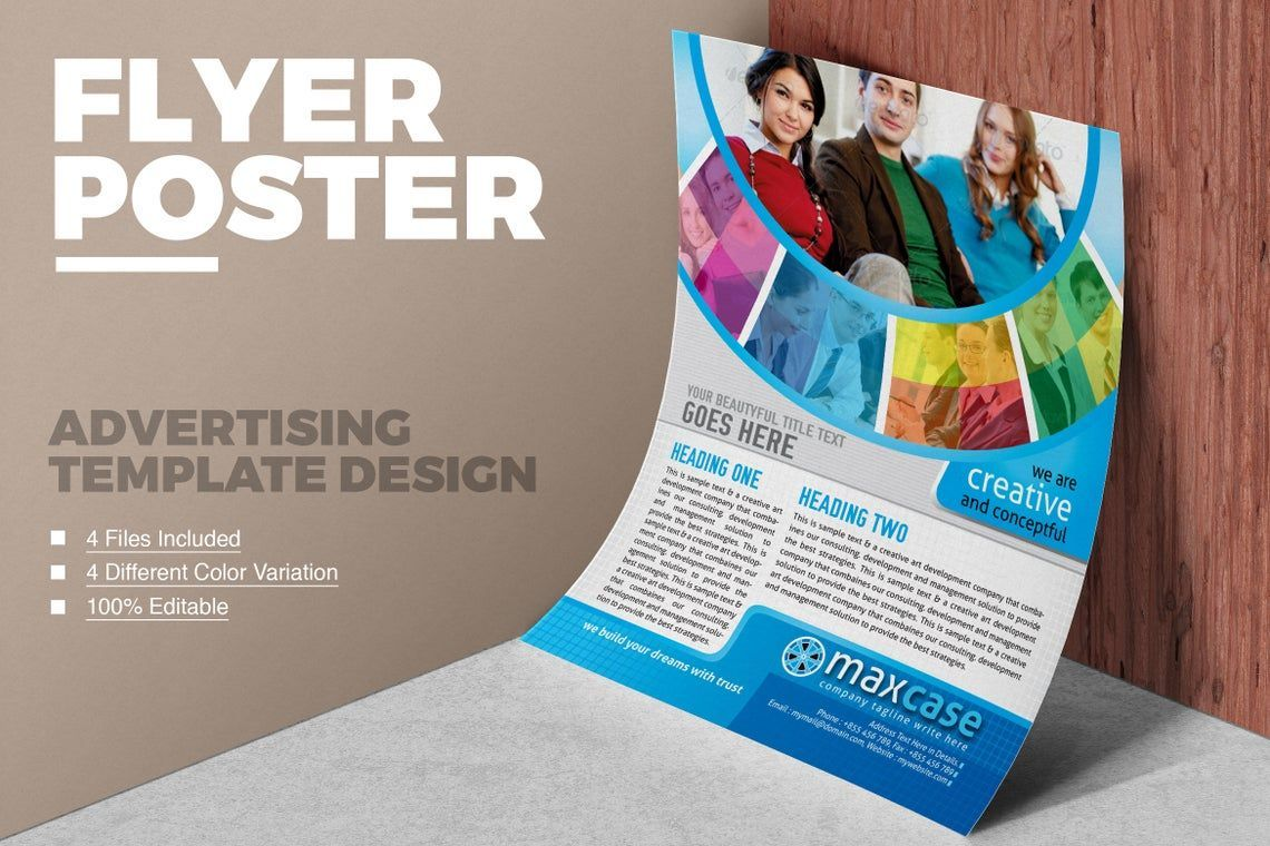 MaxCase - Corporate Business Flyer Template, 08838, Bisnis — PoweredTemplate.com