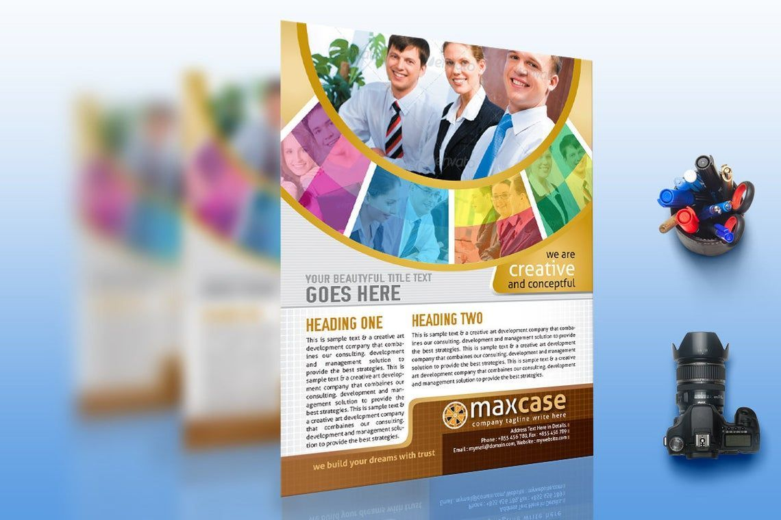MaxCase - Corporate Business Flyer Template, Slide 2, 08838, Bisnis — PoweredTemplate.com