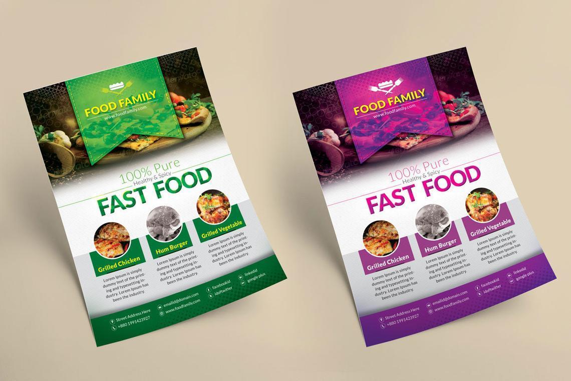 Food Family - Fast Food Restaurant Flyer and Poster Design Template, Slide 2, 08839, Food & Beverage — PoweredTemplate.com