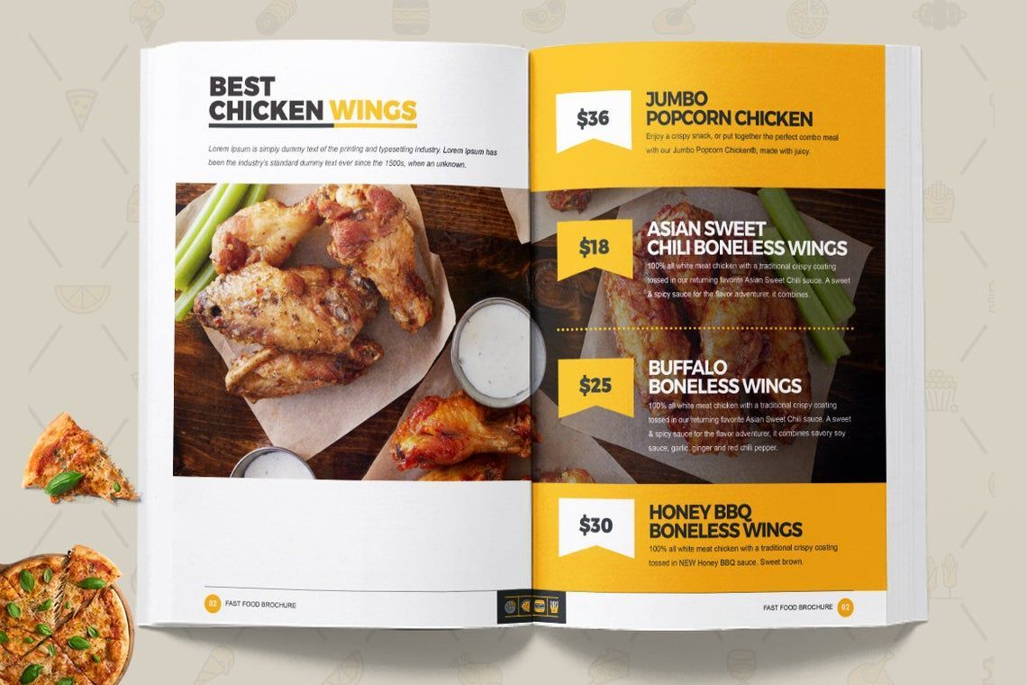 Fast Food Restaurant Cook Book Template Bi-Fold InDesign Brochure, Slide 10, 08841, Food & Beverage — PoweredTemplate.com