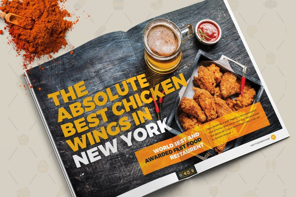 Fast Food Restaurant Cook Book Template Bi-Fold InDesign Brochure, Slide 9, 08841, Food & Beverage — PoweredTemplate.com