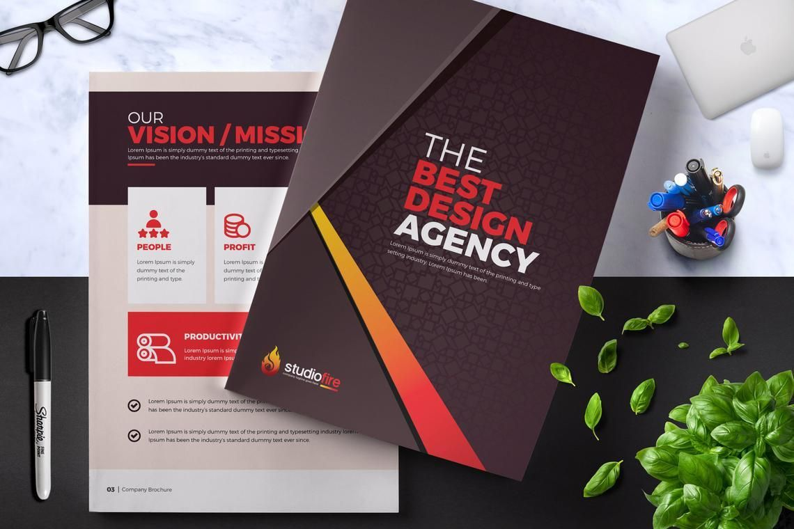 Design Agency 24 Pages InDesign Brochure Template, 08842, Business — PoweredTemplate.com