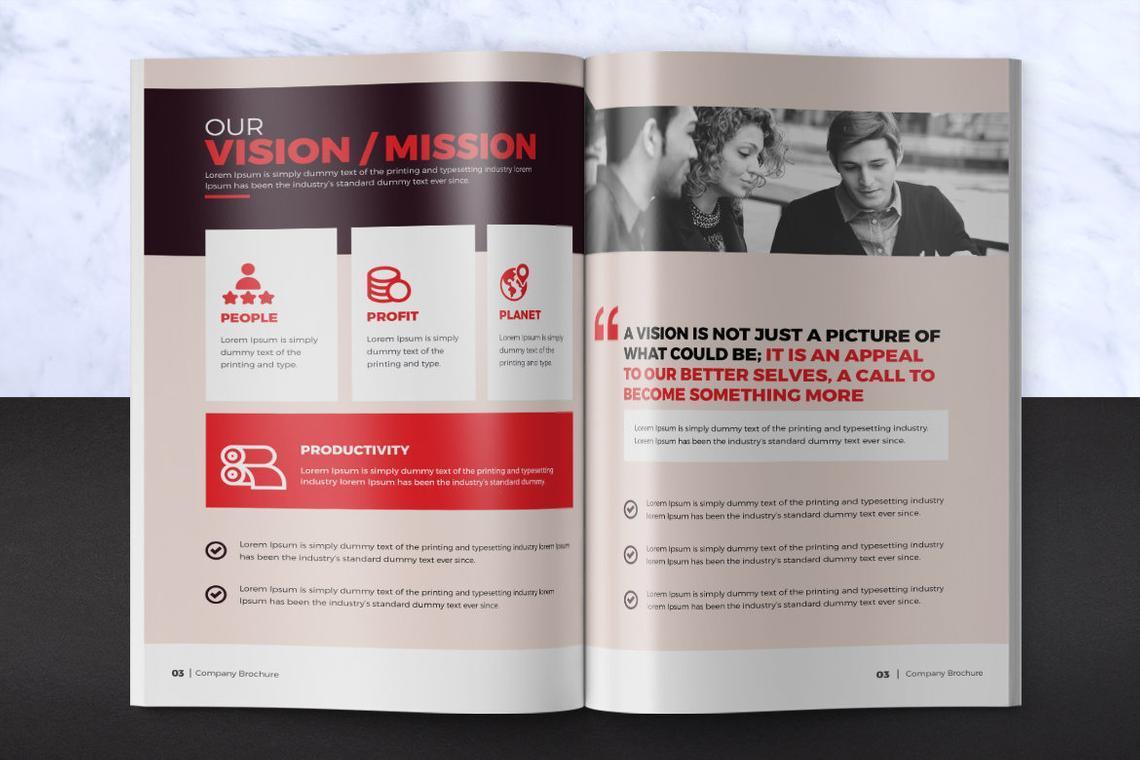 Design Agency 24 Pages InDesign Brochure Template, Slide 3, 08842, Business — PoweredTemplate.com
