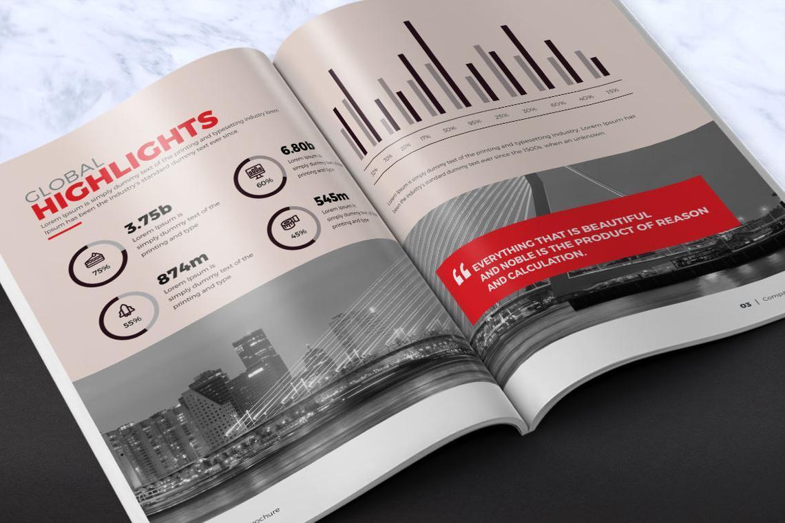 Design Agency 24 Pages InDesign Brochure Template, Slide 5, 08842, Business — PoweredTemplate.com