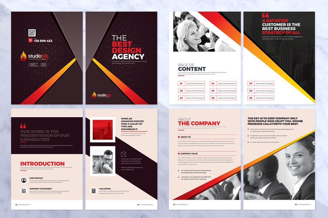 Design Agency 24 Pages InDesign Brochure Template, Slide 7, 08842, Business — PoweredTemplate.com