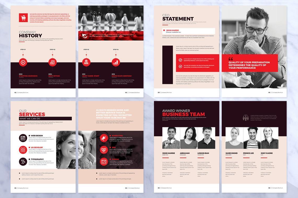 Design Agency 24 Pages InDesign Brochure Template, Slide 8, 08842, Business — PoweredTemplate.com