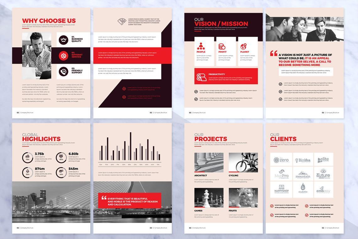 Design Agency 24 Pages InDesign Brochure Template, Slide 9, 08842, Business — PoweredTemplate.com