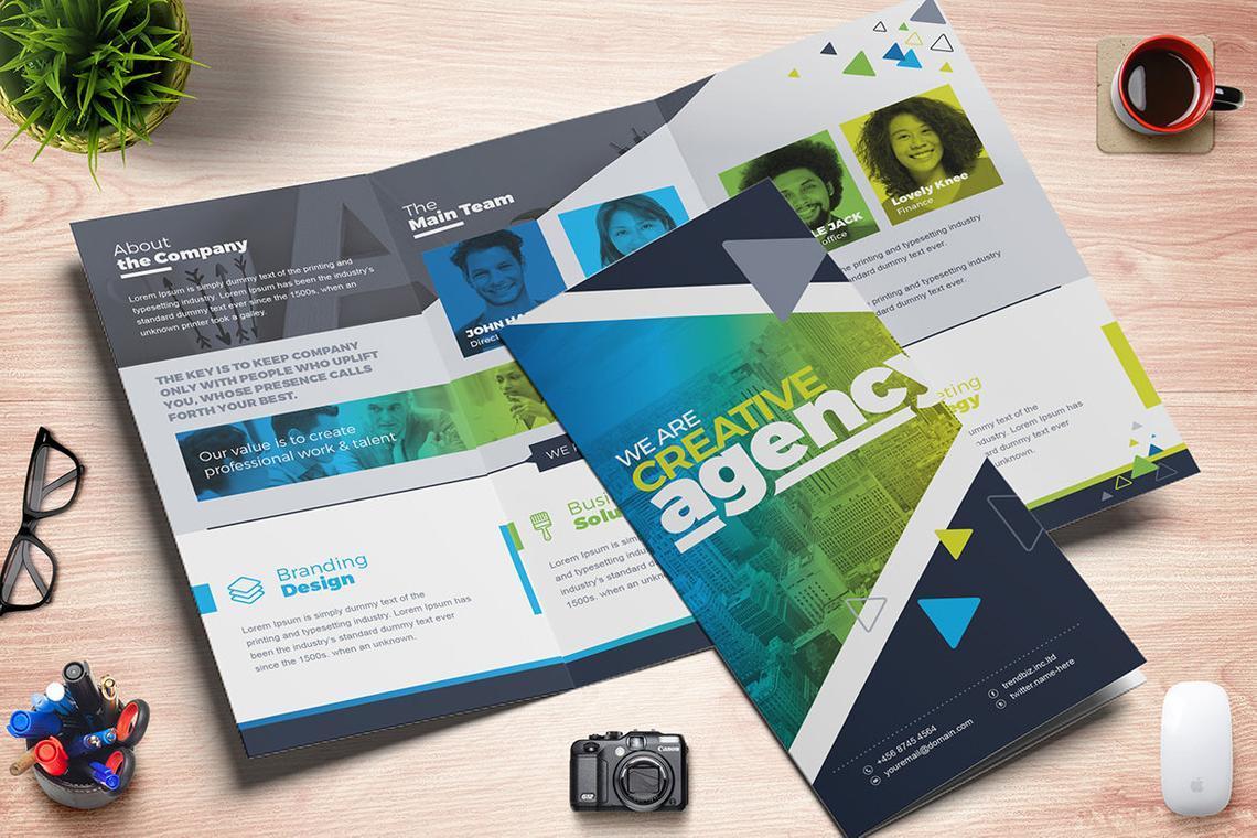 TrendBiz - Corporate Business Square and Tall Tri-Fold Brochure Design Template, Slide 4, 08843, Business — PoweredTemplate.com