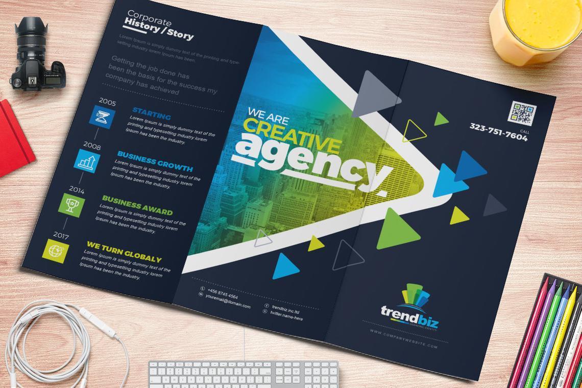 TrendBiz - Corporate Business Square and Tall Tri-Fold Brochure Design Template, Slide 5, 08843, Business — PoweredTemplate.com
