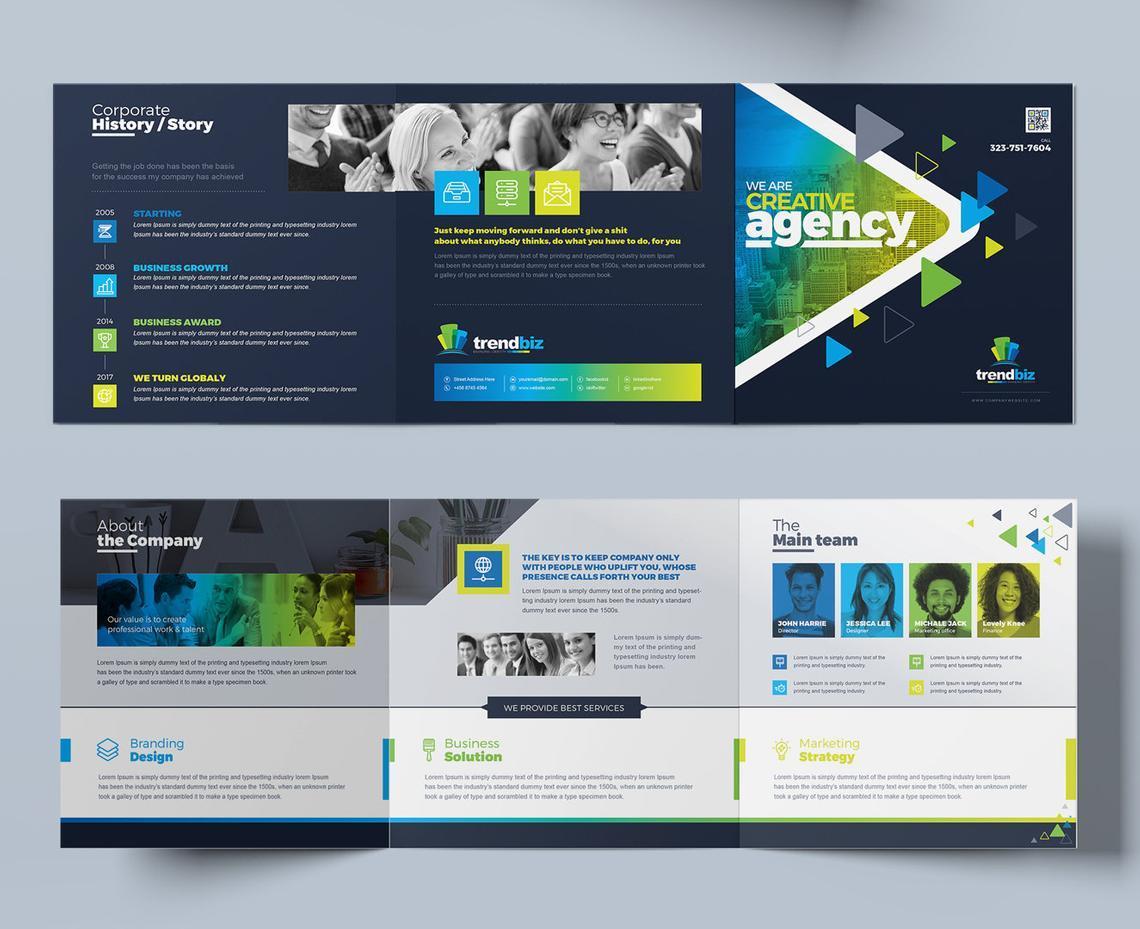 TrendBiz - Corporate Business Square and Tall Tri-Fold Brochure Design Template, Slide 6, 08843, Business — PoweredTemplate.com