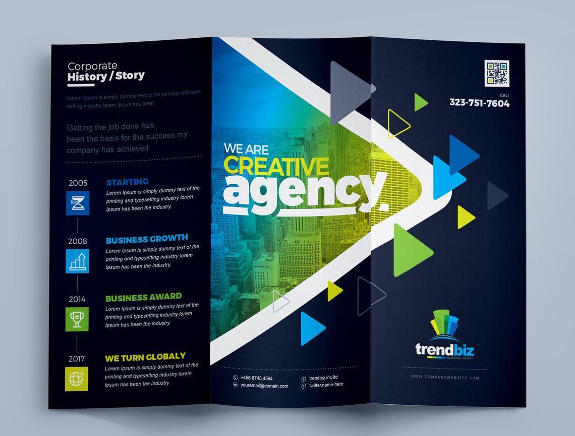 TrendBiz - Corporate Business Square and Tall Tri-Fold Brochure Design Template, Slide 7, 08843, Business — PoweredTemplate.com