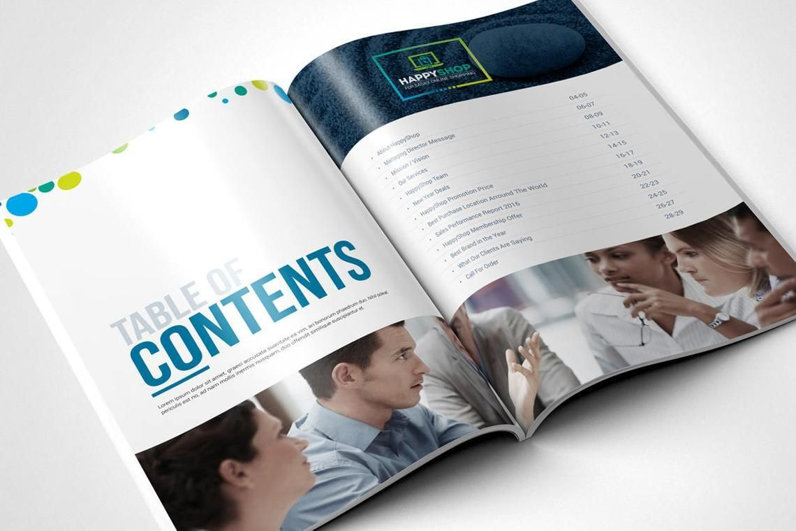 30 Pages Bi-Fold Brochure InDesign Template, Slide 2, 08845, Business — PoweredTemplate.com
