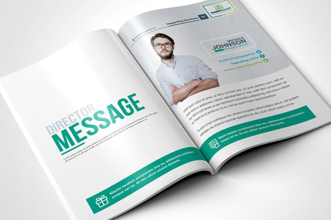 30 Pages Bi-Fold Brochure InDesign Template, Slide 4, 08845, Business — PoweredTemplate.com